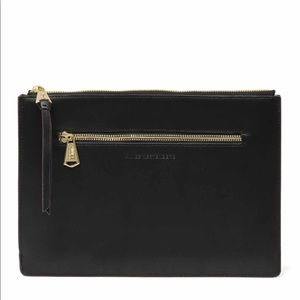 Aimee Kestenberg large zip pouch LEATHER NWT 🖤